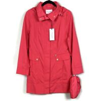New Cole Haan Women's Packable Hooded Rain Coat - Size Small - New with Tags!!