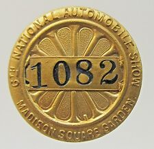 1906 NATIONAL AUTO SHOW 6th MADISON SQUARE GARDEN NY collar stud +
