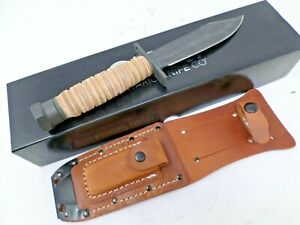 Ontario Knife Company OKC Air Force Survival Knife with Leather Sheath 6150 NEW