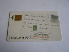 telecarte monoprix papier recyclé 50u ref phonecote F148