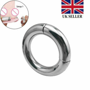 Magnetic Stainless Steel Ball Stretcher Weight Man Enhancer Chastity Ring Newest