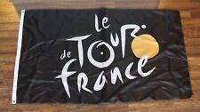 New Le Tour de France Banner Flag Bike Race Cycling Bicycle Store Black TDF Logo