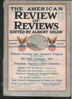 American Review of Reviews January 1918 Russia Jerusalem War Against Alcohol
