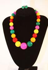 Gold Tone Colorful Beads Jxdu New Necklace Earrings Set Premium Fashion Jewelry