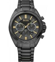 BRAND NEW MENS HUGO BOSS (1513277) DRIVER CHRONOGRAPH BLACK ION PLATED WATCH
