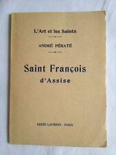 Saint François d'Assise | André Pératé | Henri Laurens coll. L'Art et les Saints