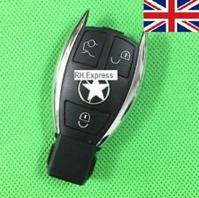 "New For MERCEDES BENZ 3 BUTTON SMART KEY FOB REMOTE CHROME CASE ""WITH LOGO"" A07"
