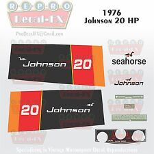 1976 Johnson 20HP Sea-Horse Outboard Reproduction 10 Pc Marine Vinyl Decals
