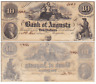1850's $10 The Bank Of Augusta Georgia G84 Uncirculated Obsolete Currency