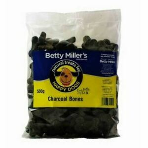 Betty Miller Natural Dog Treats Charcoal Bones 500g Pack Oven Baked Reward