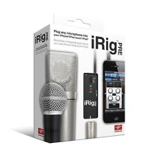 New IK Multimedia iRig Pre Microphone Interface for iPhone iOS and Android