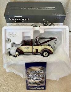 First Gear 1:30 - 1937 Chevrolet Tow Truck #19-2659 - Die-Cast Rare Ernest Holme
