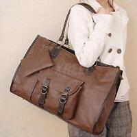 Women Tote PU Leather Messenger Hobo Bag Large Handbag Shoulder Bags