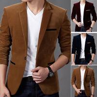 Homme Décontracté Habillé Slim Fit Un Bouton Costume Blazer Manteau Vestes