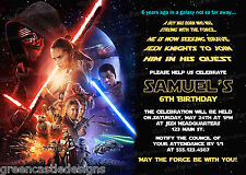 20 Star Wars The Force Awakens Birthday Party Invitations Printed +Envelopes D10