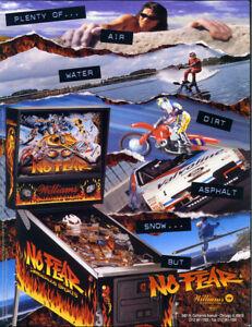No Fear Pinball FLYER Original NOS Game Artwork 1995 Williams Dangerous Sports