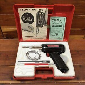 Weller Soldering Iron Gun Kit 8200-N Dual Heat 100/140 Watts w/ Case VTG