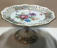 Vintage Schumann Dresden Art Bavaria German Porcelain Elevated Cake Stand