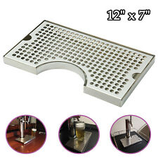 12l X7w X34t Surface Mount No Drain Stainless Steel Tap Draft Beer Drip Tray