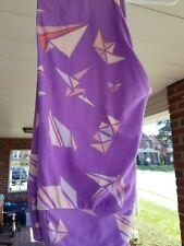 LuLaRoe Leggings - Origami, Colors: Purple, White (One Size)
