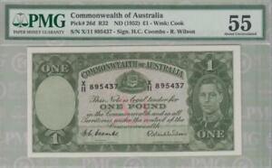 PMG 55 Commonwealth of  Australia 1955 Banknote 1 Pound