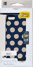 OtterBox SYMMETRY Firefly BLAZER BLUE gold dots new Iphone 7 Case ~Reg $40
