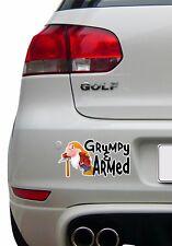 Blanche Neige 7 Nains drôle Grincheux Decal Autocollant Voiture, Van, Laptop, portes ou murs