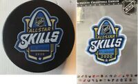 "2020 NHL ""SKILLS"" ALL STAR GAME PATCH & SOUVENIR PUCK SET TWO (2) ST LOUIS BLUES"