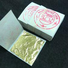 """x 100 Leaf 24k Gold- Pan de Oro - GENUINE 999/1000 - NO BASE!! (3cm /1.18"""")"""
