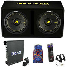 Kicker 44DCWC122 12-Inch 1200W Subwoofers Subwoofer Enclosure With Amp With