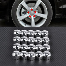 20 For Audi A4 A5 A6 VW Jetta Golf 17MM Wheel Lug Bolt Nut Cover Caps 321601173A