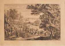 Tableau Gravure A.F. Vander Meulen 1632-1690 Le Roy Bois de Vincennes XVII°