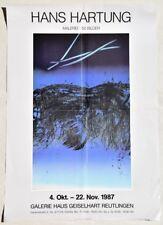 "Hans Hartung 1904-1989 / Plakat zur Ausstellung 1987 Reutlingen ""50 Bilder"""