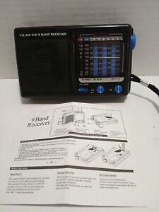 FM/AM/SW 9 Band Handheld Receiver Black Portable