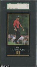 1997 Grand Slam Ventures Golf Tiger Woods RC Rookie SGC 96 MINT 9
