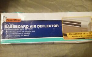 """Frost King HD11 Baseboard Air Deflector Expands from 15"""" to 25"""","""