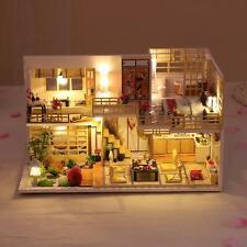 DIY Puppenhaus Miniatur Kits LED Licht Puppenhaus Kinder Geburtstagsgeschenk DE