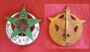 INSIGNE 5e Rgt Tirailleurs Marocains, 5 RTM drago Beranger
