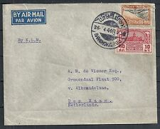 Thailand covers Mixed franked Airmailcover to The Hague