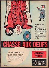 Tintin - Publicité Chasse aux oeufs aux Galeries Anspach  - Journal Tintin