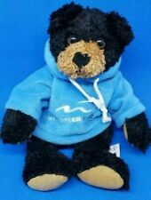"BAXTER BEAR,Curly Critters,Stuffed Animal House,Black Brown 10"" Whistler Hoodie"