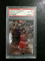 1998 Topps Chrome Michael Jordan Back 2 Back Psa 8