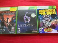 XBOX 360 RESIDENT EVIL,RE OPERATION RACCOON CITY,BORDERLANDS(22339-B4-N)