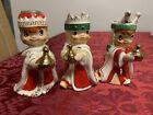 1960 Holt Howard Vintage Christmas 3 Wisemen Bells Candleholders