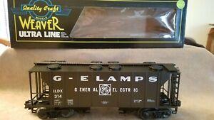 WEAVER ILDX 314 - GE LAMPS GENERAL ELECTRIC COVERED HOPPER - O GAUGE
