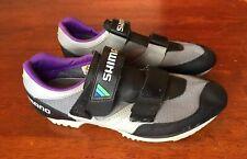 SHIMANO SPD SH A-100 Gray/ Black Women's Sz 43 Road Mountain Biking Bike Shoes