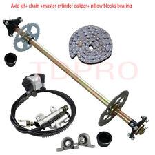 """7/"""" Tires Rims Wheel Hubs for Drift Trike ATV 32/"""" Go Kart Rear Live Axle Kit"""