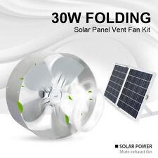 30W Poly Folding Solar Panel & 25W Power Vent Fan Solar-Powered Ventilation Fan
