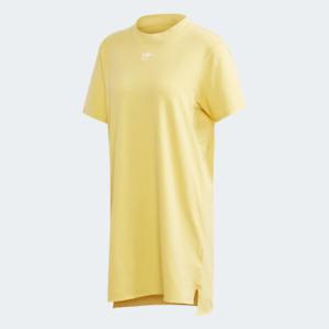 Adidas Women's Trefoil Dress, Core Yellow / White