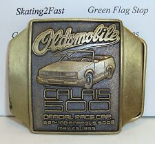 1985 Indianapolis 500 Olds Calais Belt Buckle Bronze